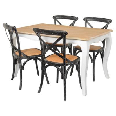 Juego de comedor Vittoria 4 sillas negro