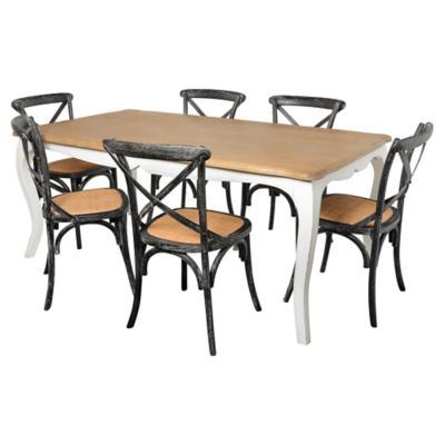 Juego de comedor Vittoria 6 sillas negro