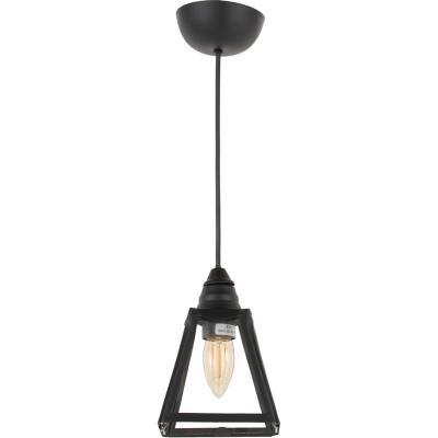 Lámpara de colgar Vidrio Pendiente Negro