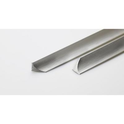 Perfil aluminio 1,25x25 cm plateado