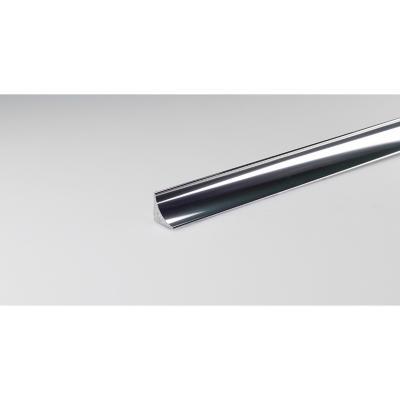 Perfil aluminio 1,15x25 cm plateado