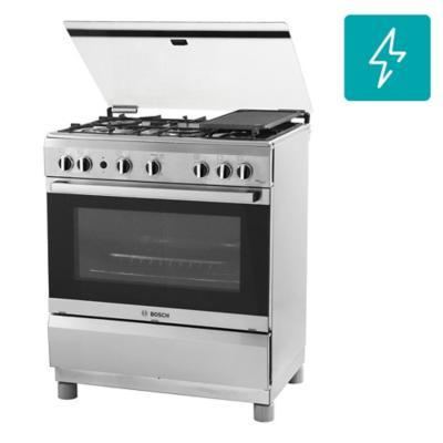 Cocina a gas 5 quemadores 78 litros gris