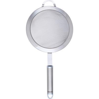 Colador acero gris