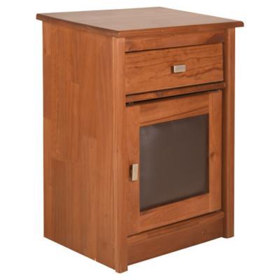 Velador 1 cajón 1 puerta 49x37x65 café