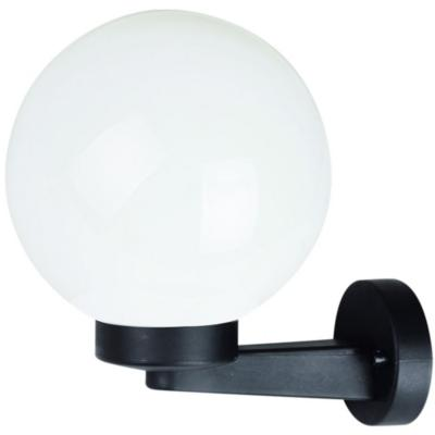 Apliqué Globo aluminio difusor opal negro