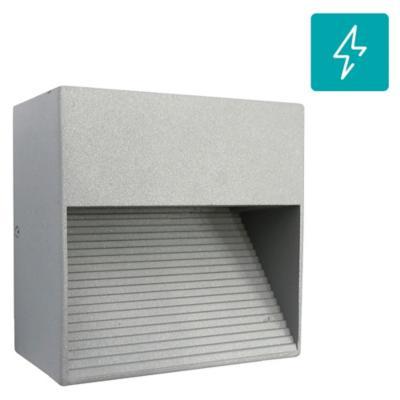 Apliqué exterior led IP54 aluminio gris