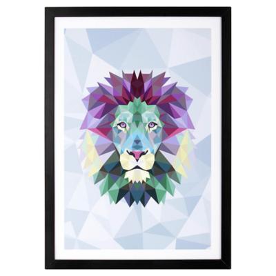 Cuadro 50x35 cm Blue Lion Madera