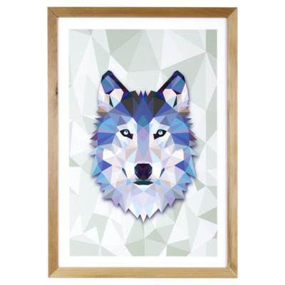 Cuadro 50x35 cm Blue Wolf