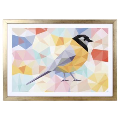 Cuadro 50x35 cm Yellow bird dorado
