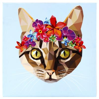 Canvas decorativo Frida Cat 50x50 cm