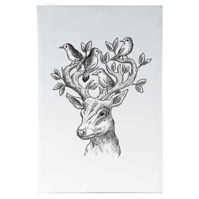 Canvas decorativo Deer Bird 60x90 cm