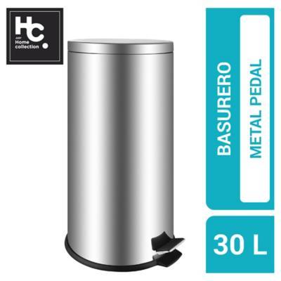 Basurero de Metal 30 Lts Gris