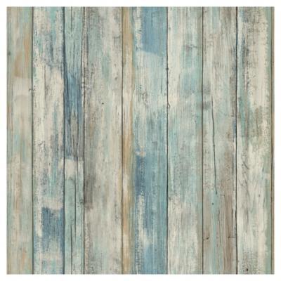 Rollos autoadhesivos Reutilizables madera azul 52x503 cm
