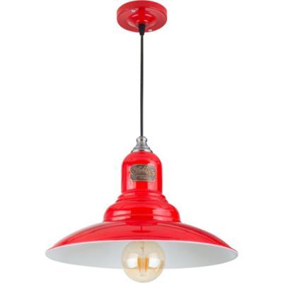Lámpara de colgar old vintage rojo