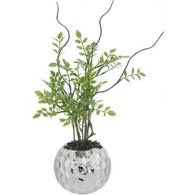 Planta artificial 26 cm con macetero