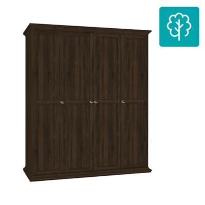 Clóset 4 puertas sin cajones 181x60x200 walnut