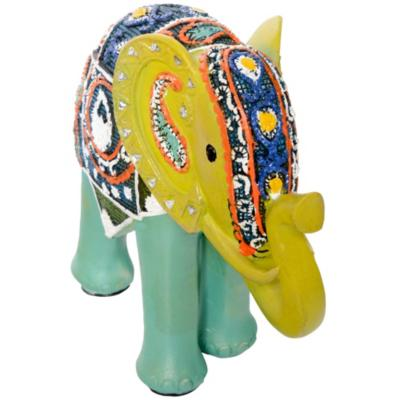 Elefante decorativo 20x23,4x9,4 cm poliresina verde
