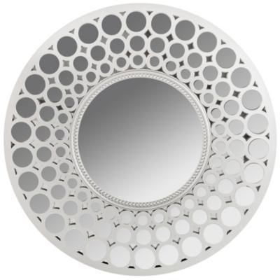Espejo circular 63 cm plata