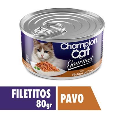 Alimento húmedo para gato adulto 80 g pavo