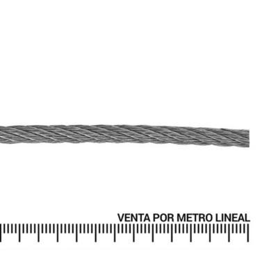 Cable de acero galvanizado 3/32'' metro lineal