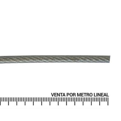 "Cable de acero forro PVC 1/16"" metro lineal"