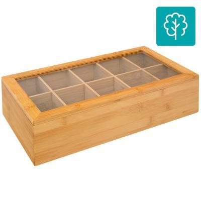 Caja para té 36x20x9 cm natural