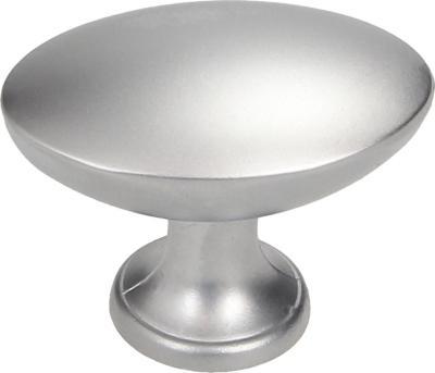 Pomo ovalado 27 mm cromo mate