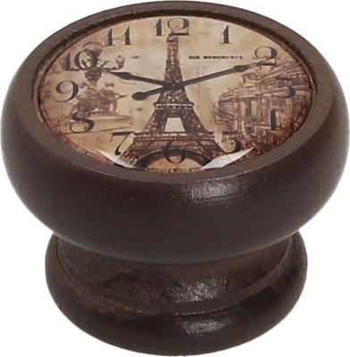 Perilla 40 mm madera nogal reloj Eiffel