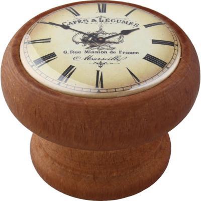 Perilla 40 mm madera tinte  miel reloj café