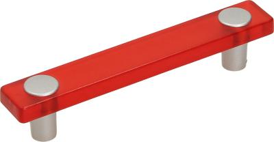 Manilla 96 mm metacrilato  rojo cromado mate