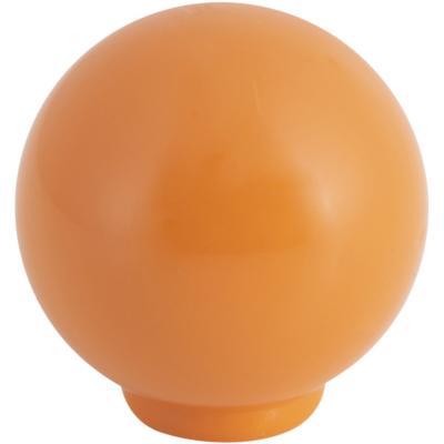 Perilla abs 29 mm naranja brillo