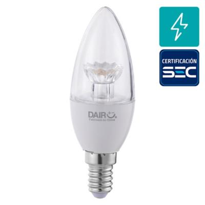 Ampolleta LED mini vela E-14 40 W Cálida