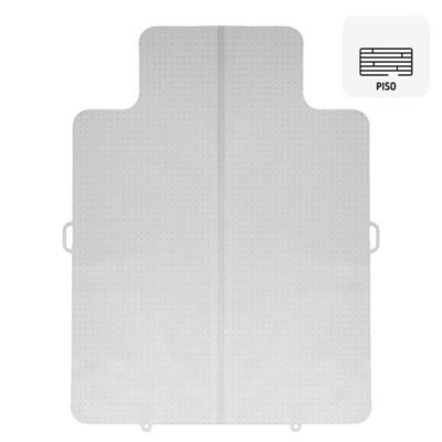 Protector plegable para alfombra plástico blanco