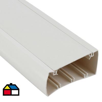 Canaleta 100x50 mm 2 metros blanca