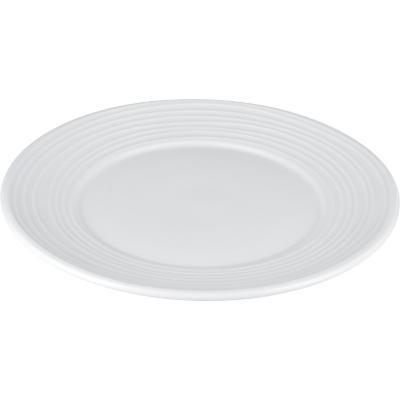 Plato de comida 21 cm blanco Ring