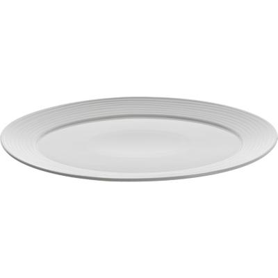 Fuente ovalada 29x37 cm blanca Ring