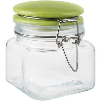 Frasco con tapa 0,46 litros vidrio verde