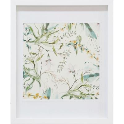Cuadro enmarcado 48x58cm Flores 2 marco blanco