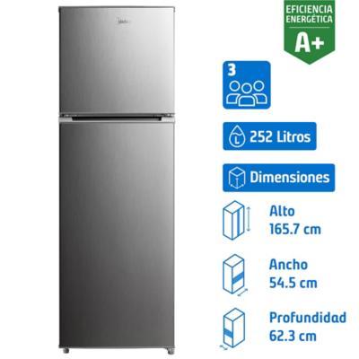 Refrigerador no frost 252 litros gris