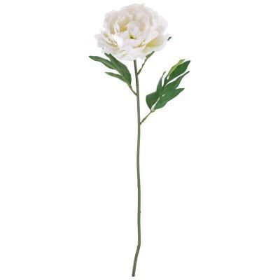 Peonía artificial 63 cm blanco