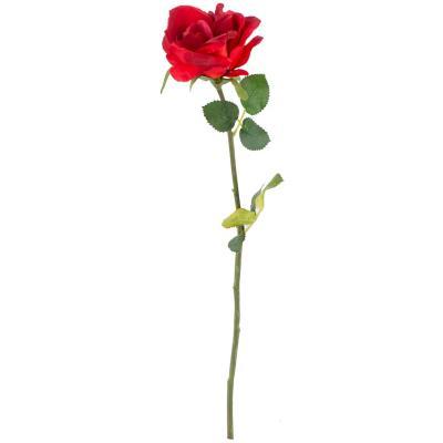 Rosa artificial 54 cm rojo