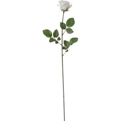 Rosa artificial 75 cm crema