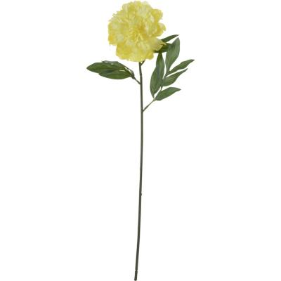 Peonía artificial 63 cm amarillo