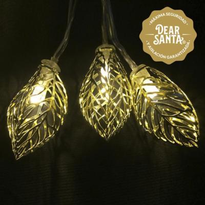 Hoja decorativa LED 7x7,5x14 cm 10 luces