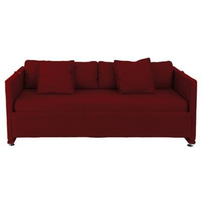 Sofa camarote 3 cuerpos 204x72x87 cm rojo