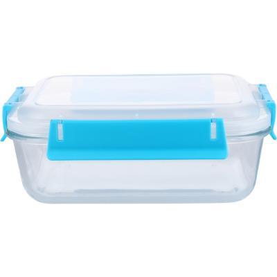 Conservador de vidrio 1,1 l rectangular clip color 16x22x8 2  cm