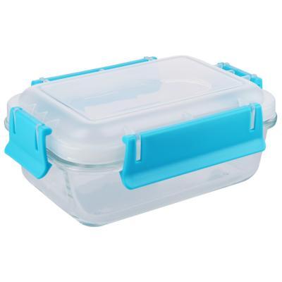 Conservador de vidrio 0,55 l rectangular clip color 13x17,5x6,9 cm