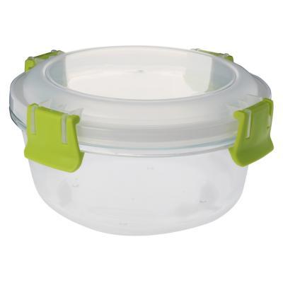 Conservador de vidrio 0,8 l redondo clip color 17,5x17,5x8,5 cm