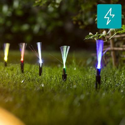 Estaca solar fibra óptica 20 unidades