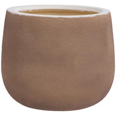 Macetero de cerámica 22x18 cm beige